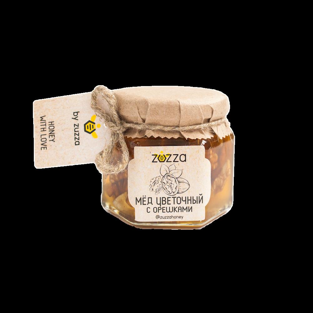 Мёд цветочный с орешками
