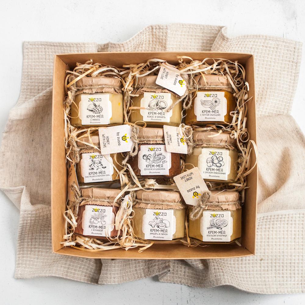 """Подарочный набор крем-мёда """"9 вкусов"""""""
